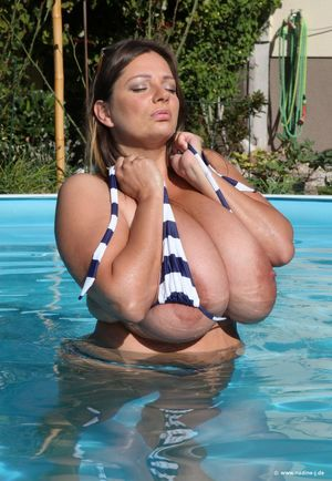big boobs pool