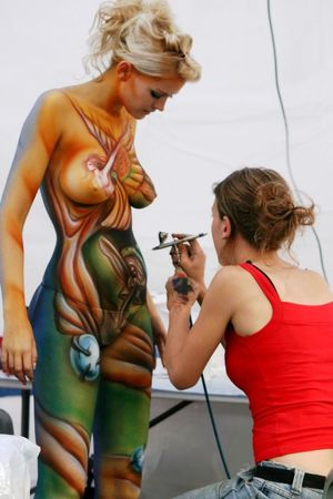 nudist body paint