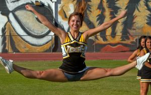 blacks on blondes cheerleader