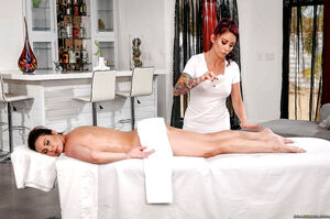 monique alexander takes her friend to a massage