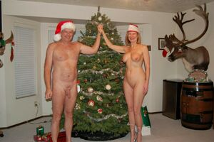 christmas nudist