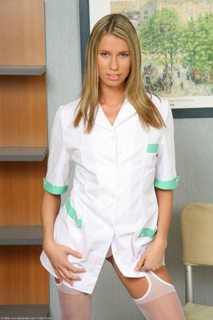 hot blonde nurse