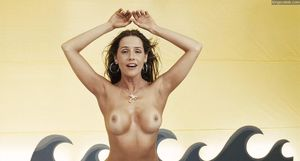 debra messing topless
