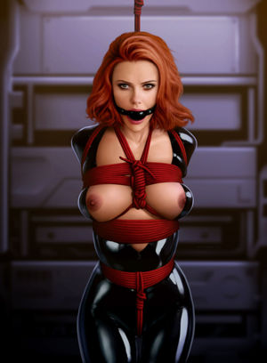 black widow marvel nude