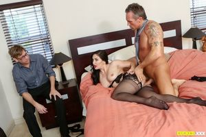 cuckold husband watches wife